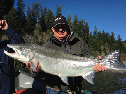 19-pound Chetco steelhead, Jan. 1