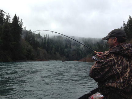 Fish on! Chetco Dec. 28.