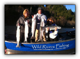 Chetco River steelhead fishing at its best. Drift boat trips with guide Andy Martin of Wild Rivers Fishing.