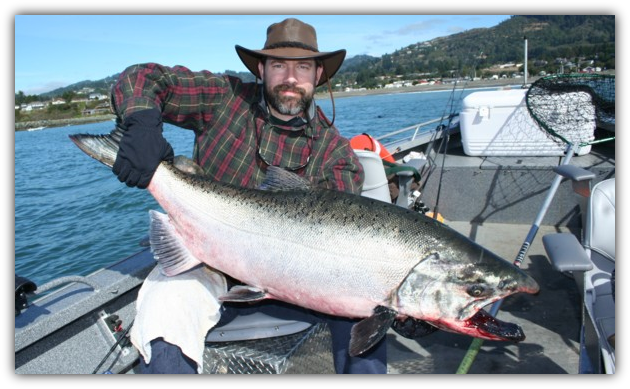 brookings trophy salmon fishing brookings or charter