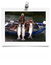 Fall Salmon Gallery, Chetco, Smith, Elk, SIxes, Rogue and Klamath river fishing photos.