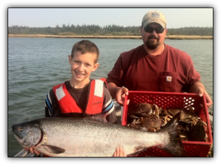 Coquille River salmon fishing guided trips Bandon Oregon.