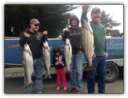Coos Bay salmon fishing with guide Andy Martin of Wild Rivers Fishing.