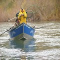 Wayne Smith fights his 65 pound king on the Chetco River in 2011.