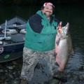 Chetco River king, 45 pounds, Larry,