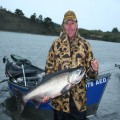 Ed with a Smith River king caught on herring at the Sand Hole, 2011.