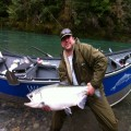Mike with a late season Chetco River king.