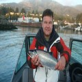 Jack salmon caught at mouth of Chetco River, Ricky.