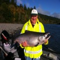 Chuck with a 47 pound king from the Chetco River, 2010 season.